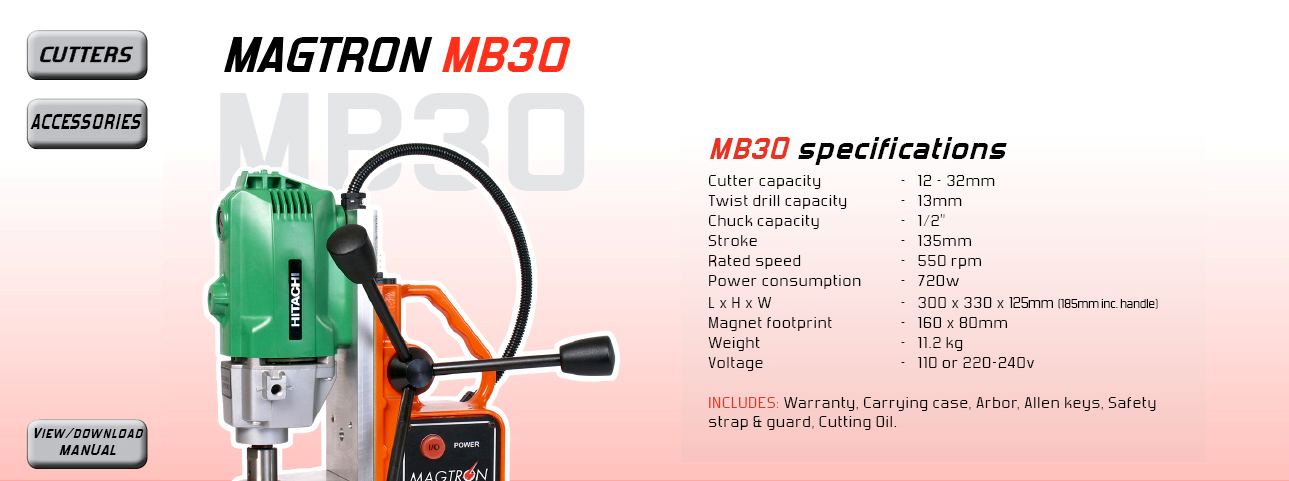 Cutter capacity - 12 - 32mm